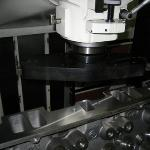 Machining the intake flange with the Rottler F65